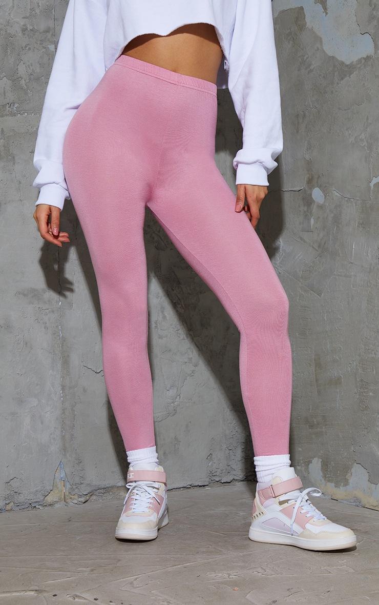 Dusty Rose Basic Leggings 2