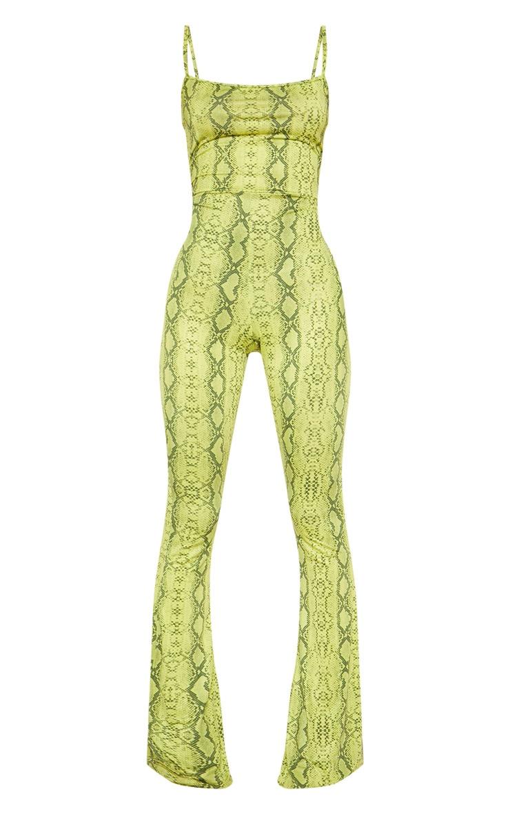 Lime Snake Straight Neck Jumpsuit 4