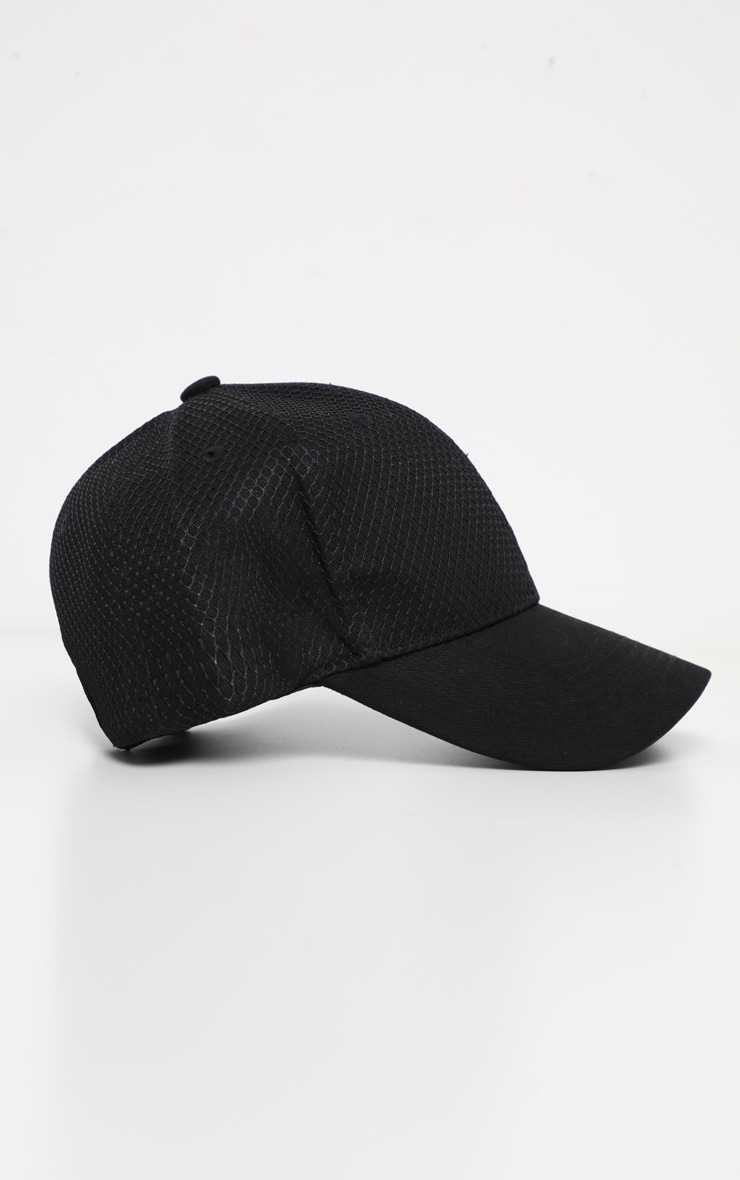 Black Neoprene Baseball Cap 2