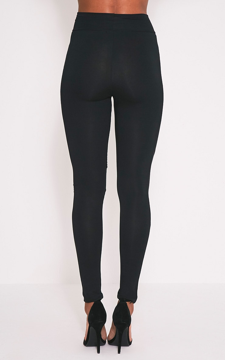 Eliana Black Mesh Insert Leggings 5