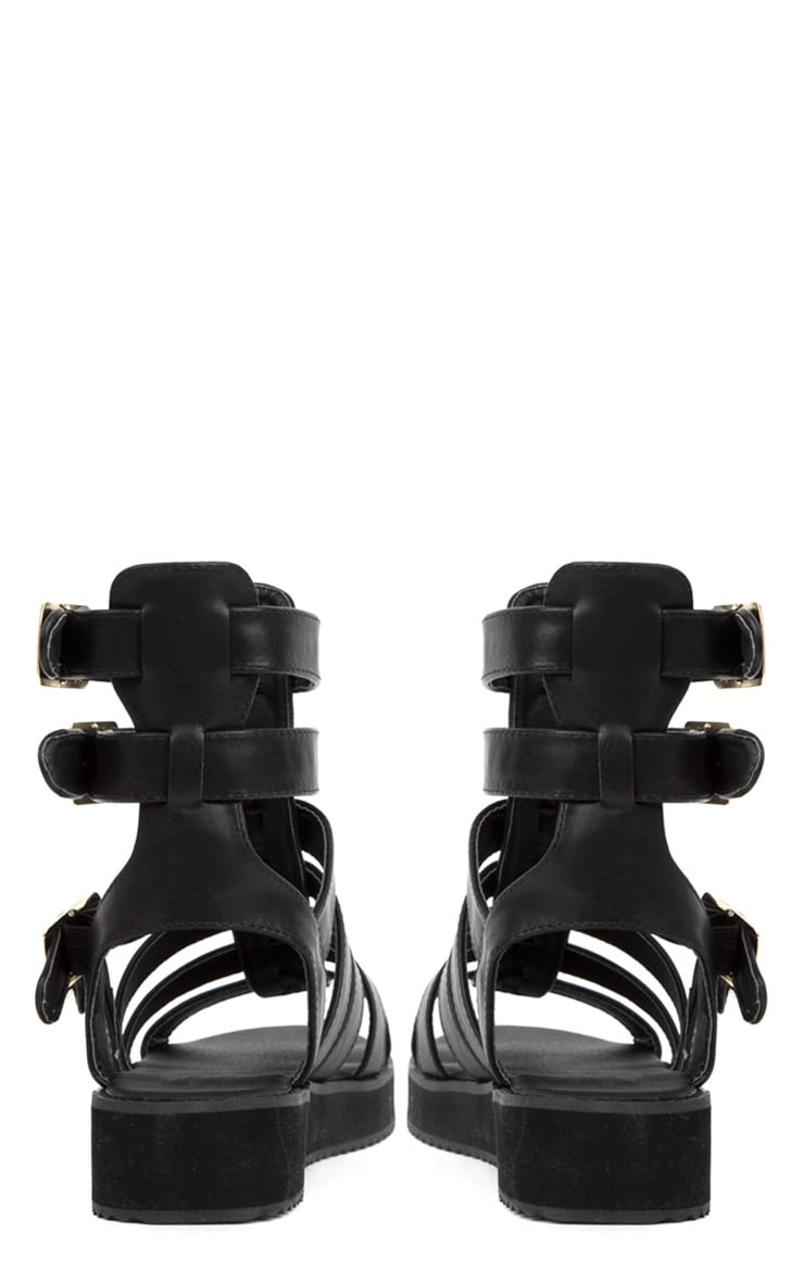Nadia Black Gladiator Sandals 2