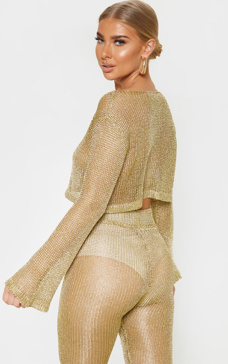 Gold Knit Beach Top 2