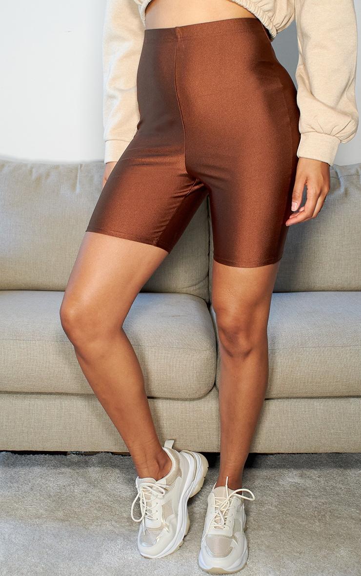 Brown Disco Bike Shorts 2
