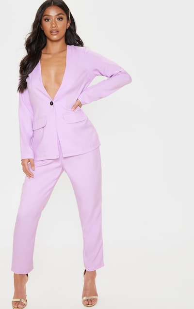 ac6fe62a539d Petite Lilac Straight Leg Trouser PrettyLittleThing Sticker