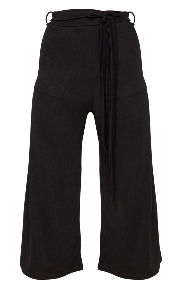 Black Tie Waist Culotte 3