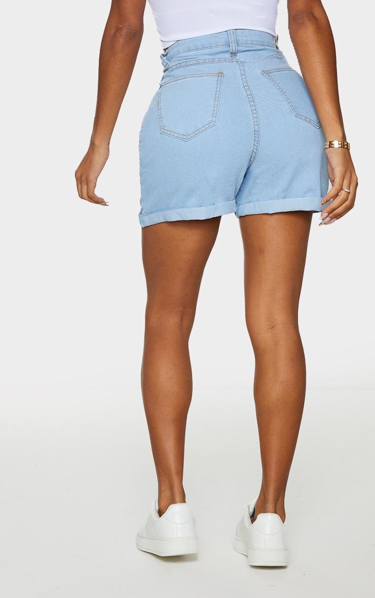 Shape - Short en jean très délavé ajusté taille haute 3