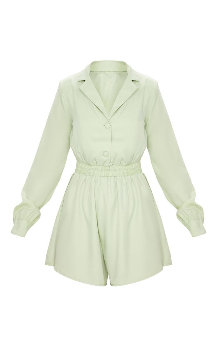 Combishort fluide à haut chemise vert sauge 5