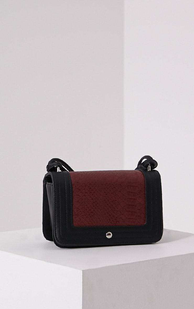 Jaya Burgundy Strap Shoulder Bag 1