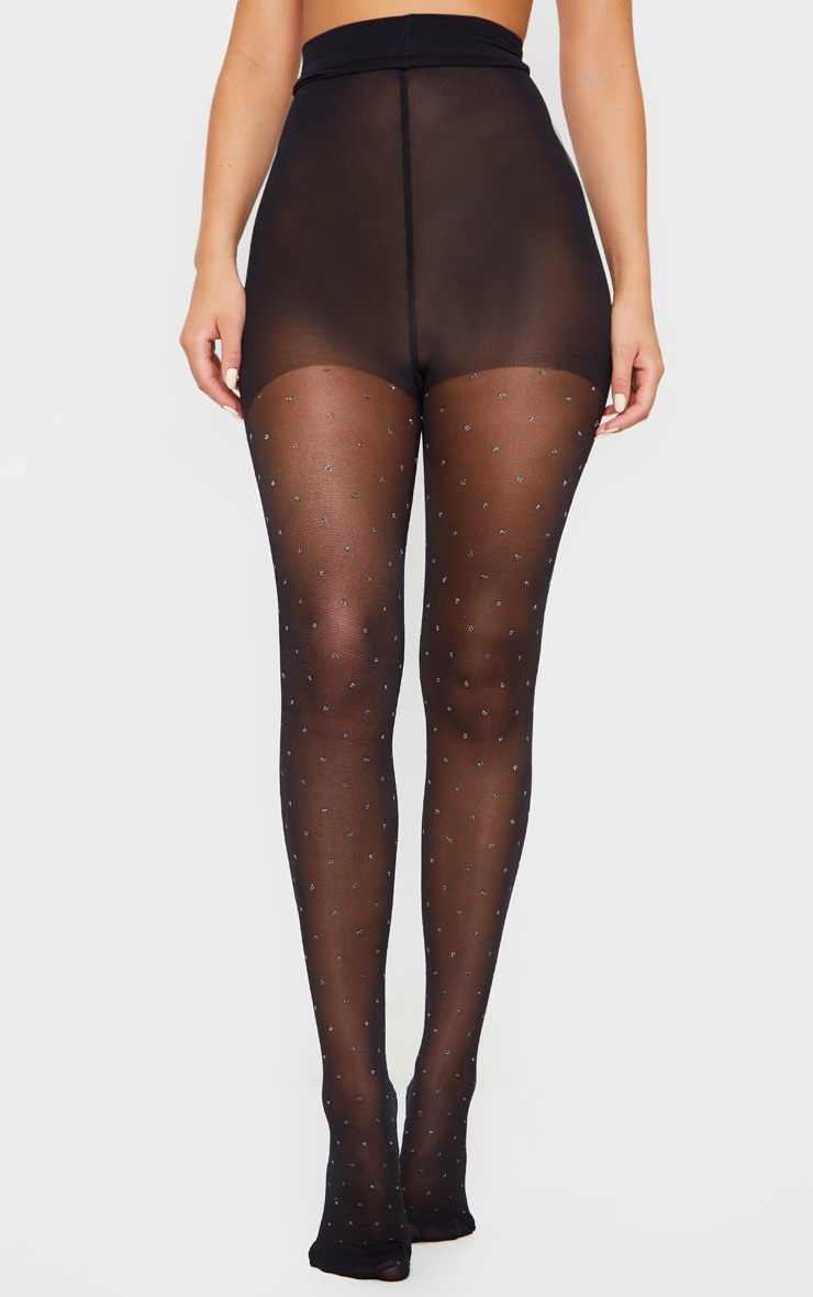 Glitter Dot Print Tights 1