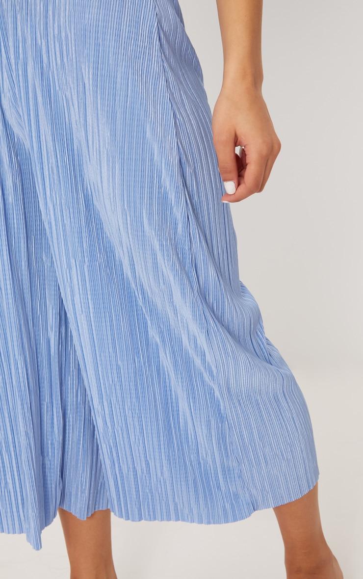 Dusty Blue Oversized Plisse Culotte 5