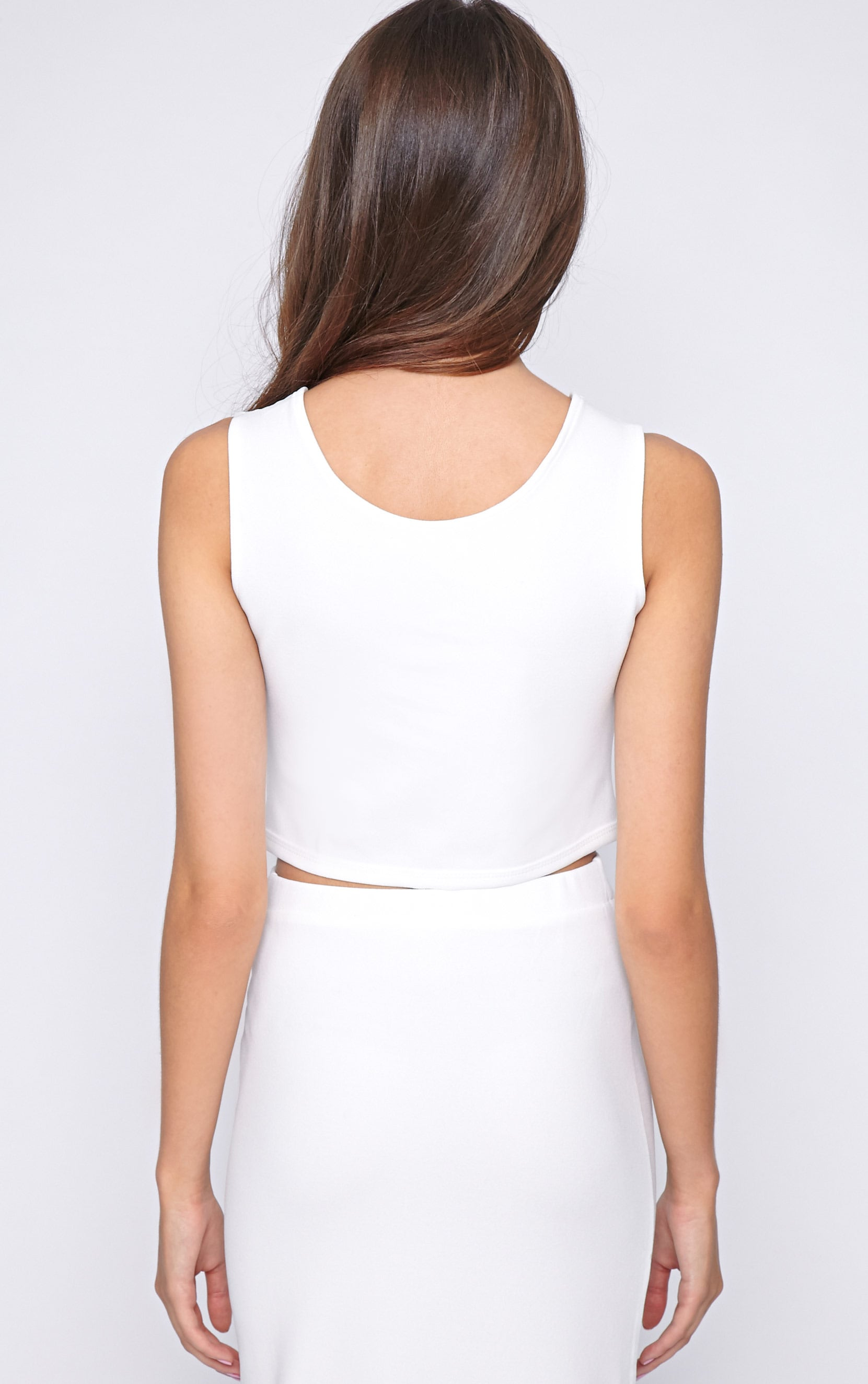 Kadence White Zip Front Crop  2