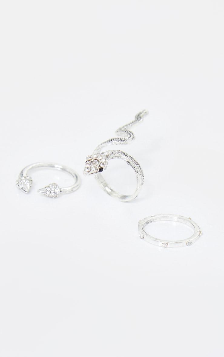 Silver Snake Multi Ring Pack 2