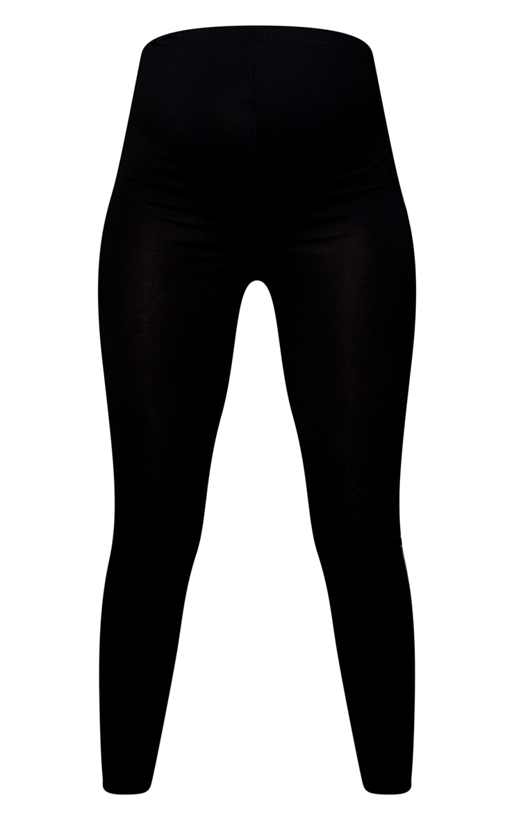 Maternity Black Basic Jersey Flared Pants 5