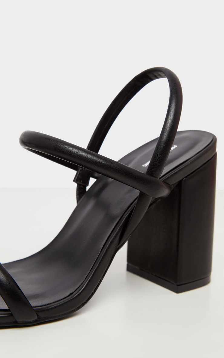 Black Wide Fit Chunky Block Heel Slingback Sandal 4