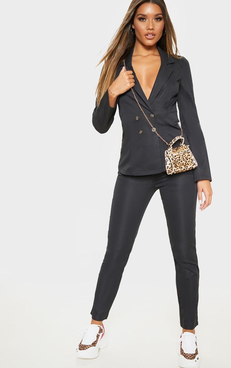 Black Button Detail Trouser 1