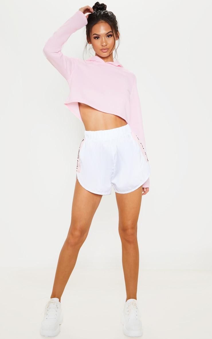 Basic Baby Pink Crop Hoodie 4