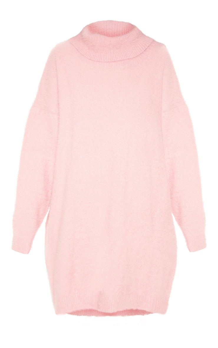 Rose Knitted High Neck Sweater Dress  3