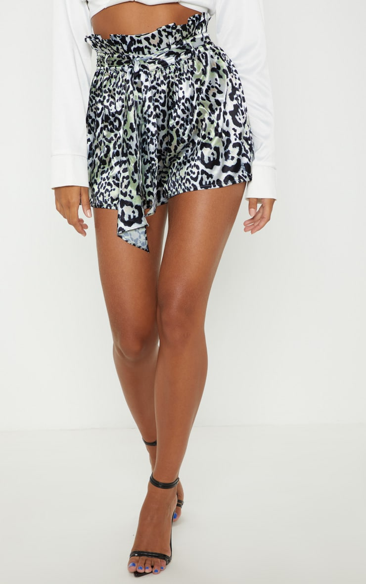 Leopard Print Tie Waist Short 2