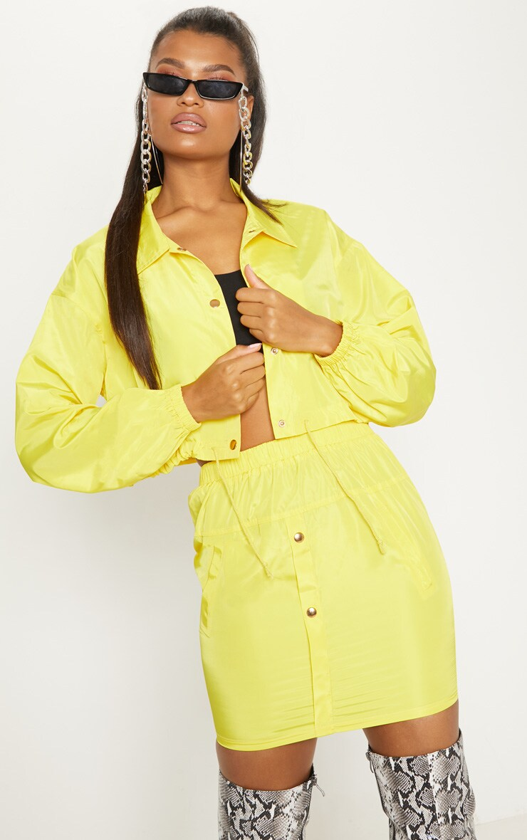 Yellow Shell Suit Jacket