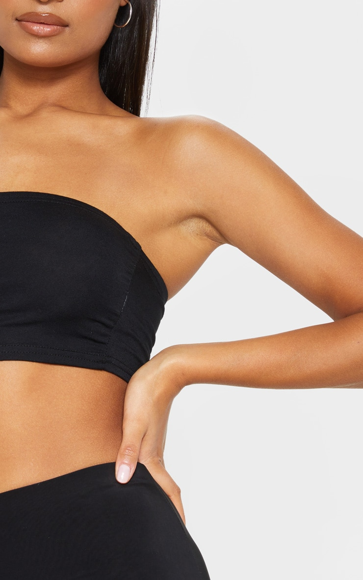 Basic Black Jersey Bandeau Top 5