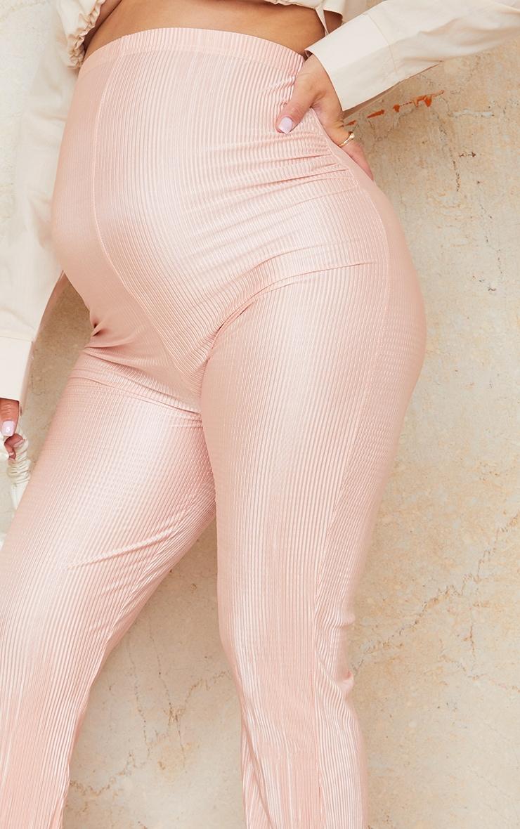 Maternity Stone Plisse Flared  Pants 4