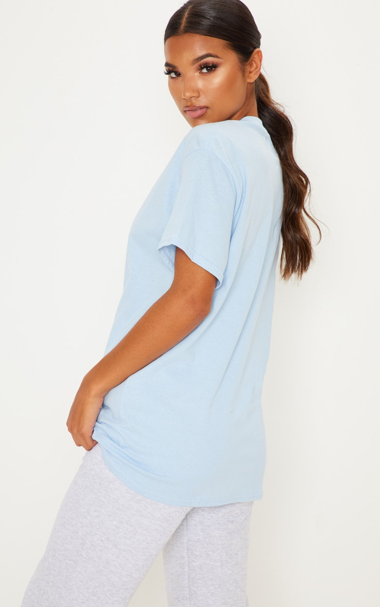Light Blue Boyfriend T Shirt 1