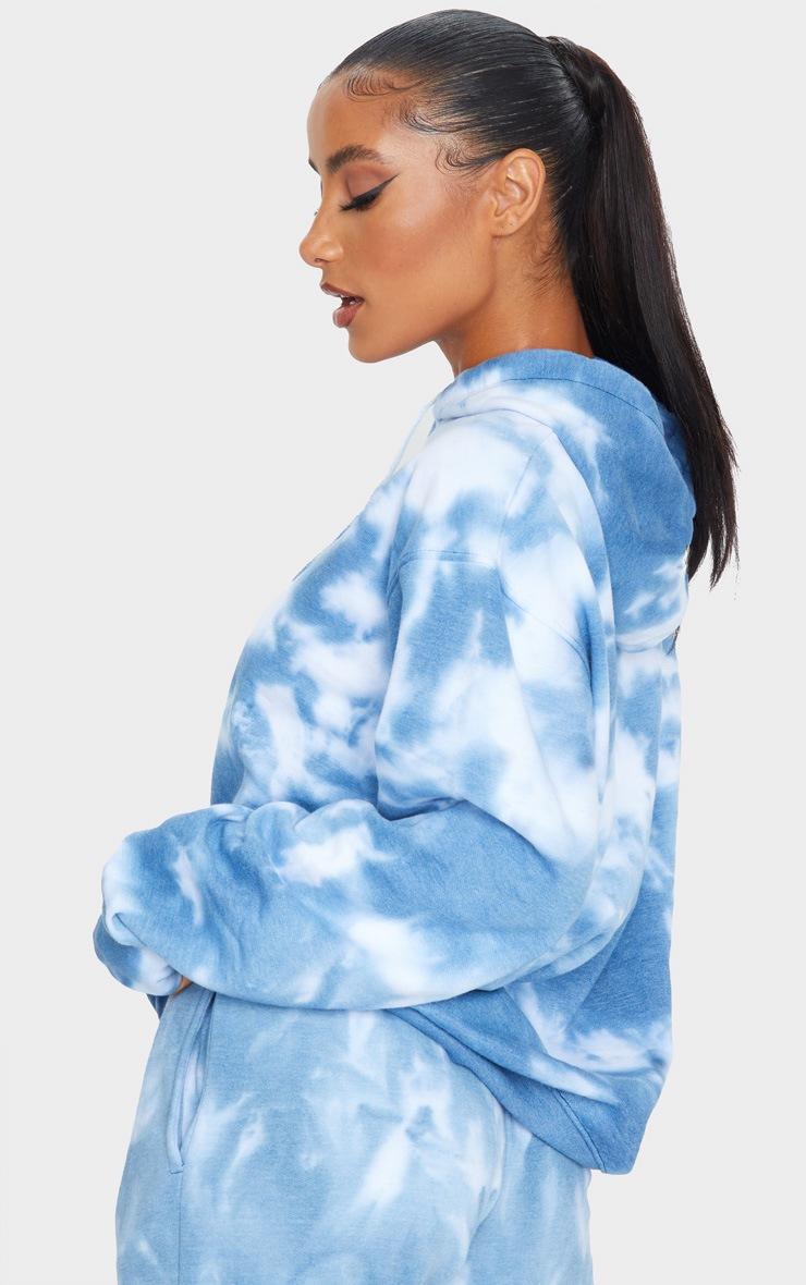 Blue Oversized Tie Dye Hoodie 2