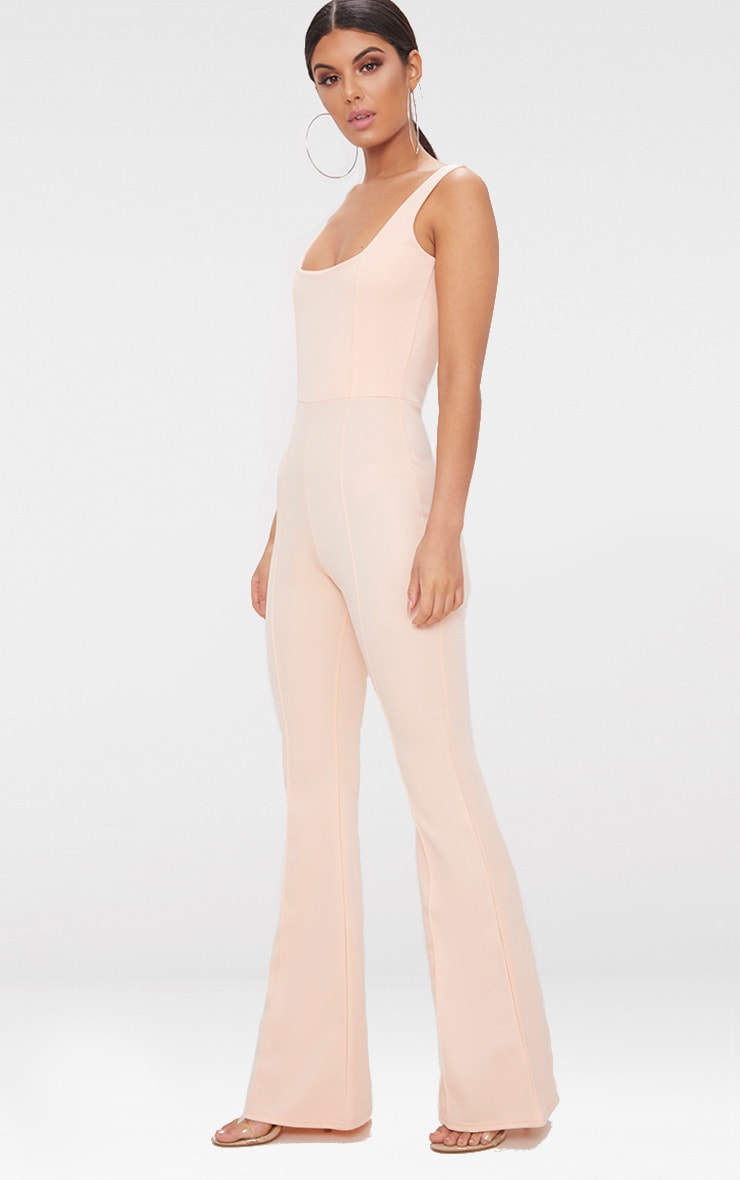 Nude Square Neck Seam Detail Jumpsuit 4
