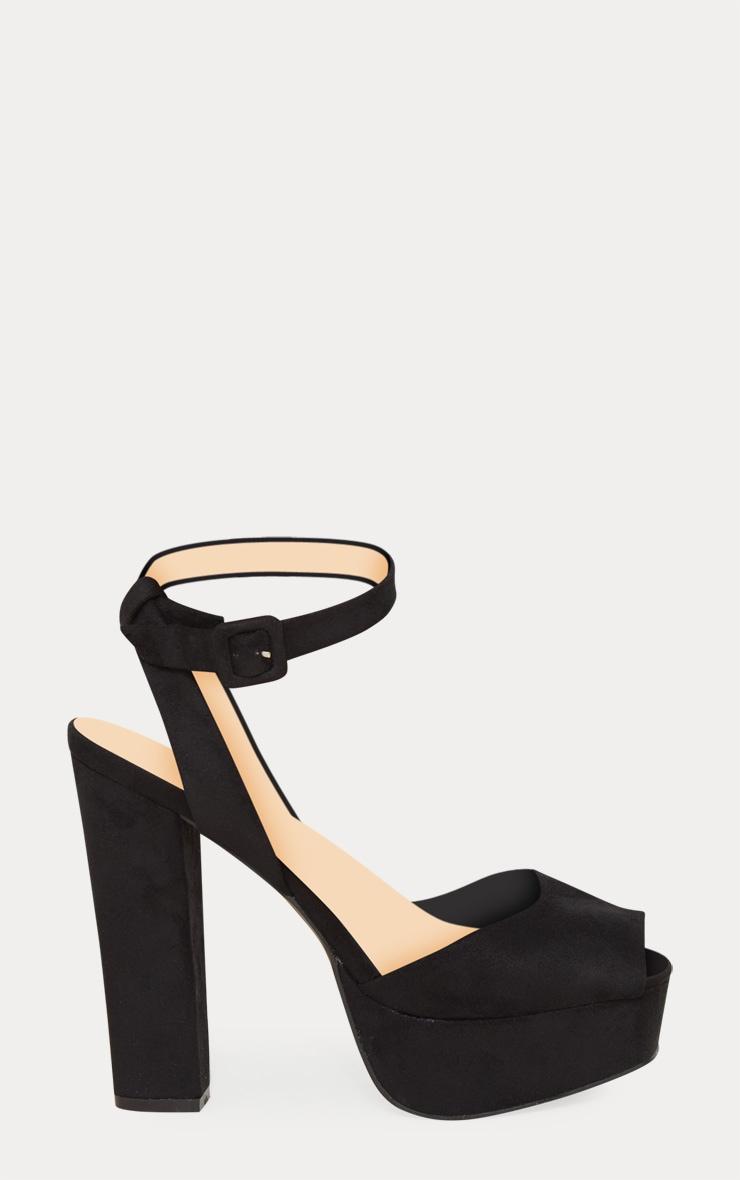 Black Platform Sandal 3