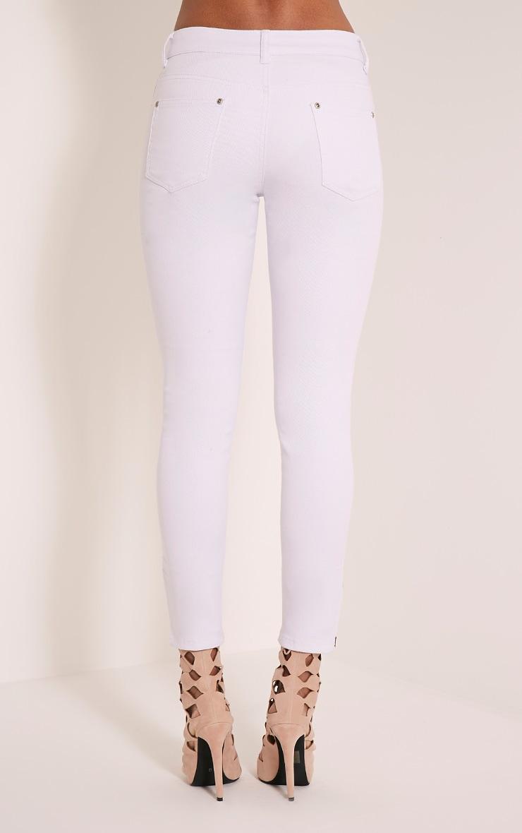 Jean skinny blanc longueur cheville taille haute 6