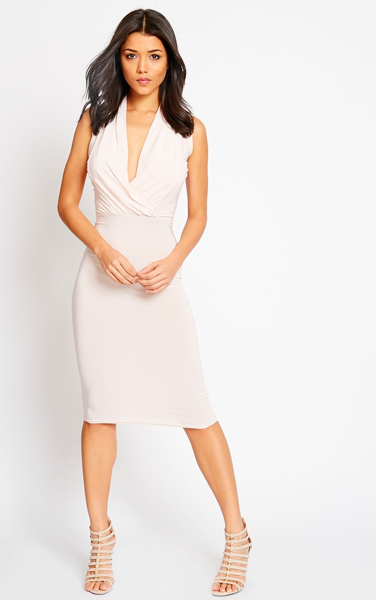 Stella Nude Drape Midi Dress 1