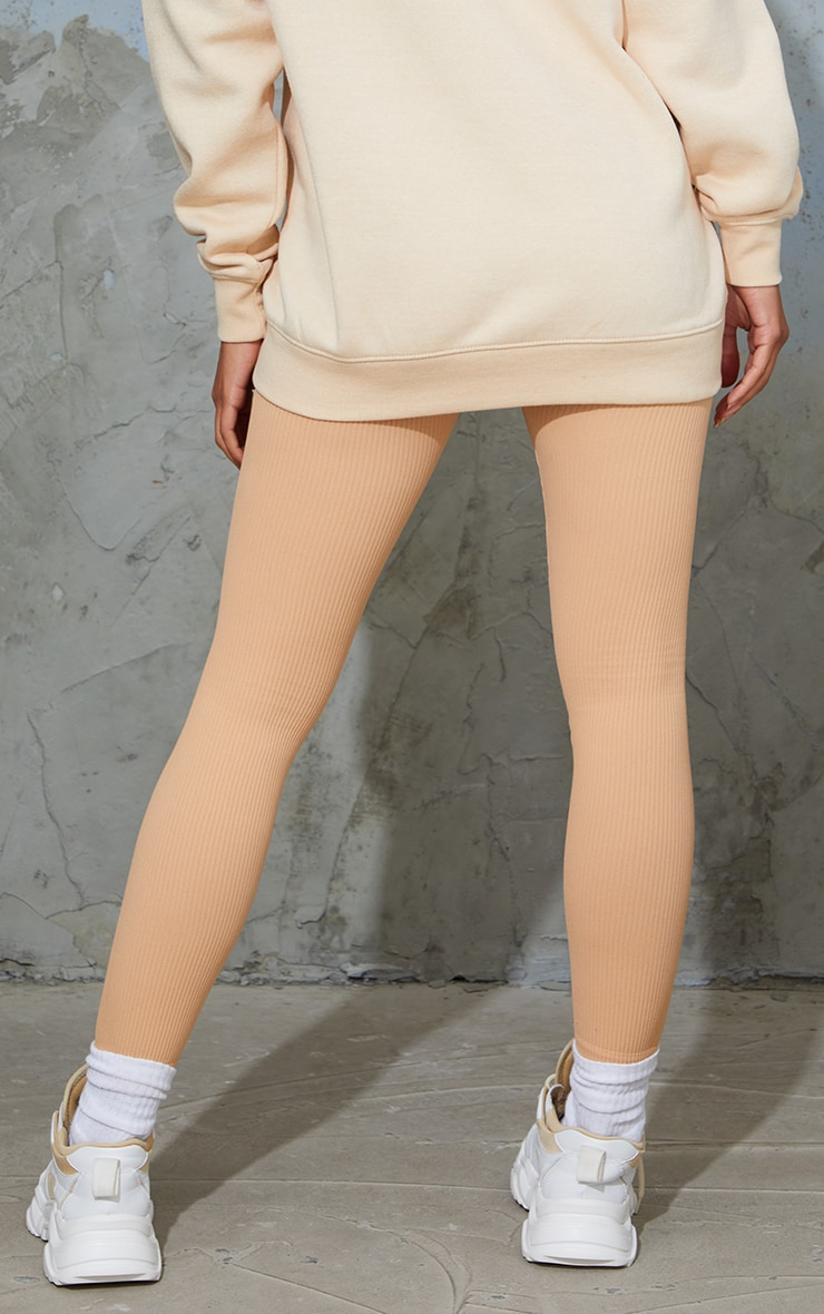 Maternity Camel Contour Ribbed Bump Support Leggings 3