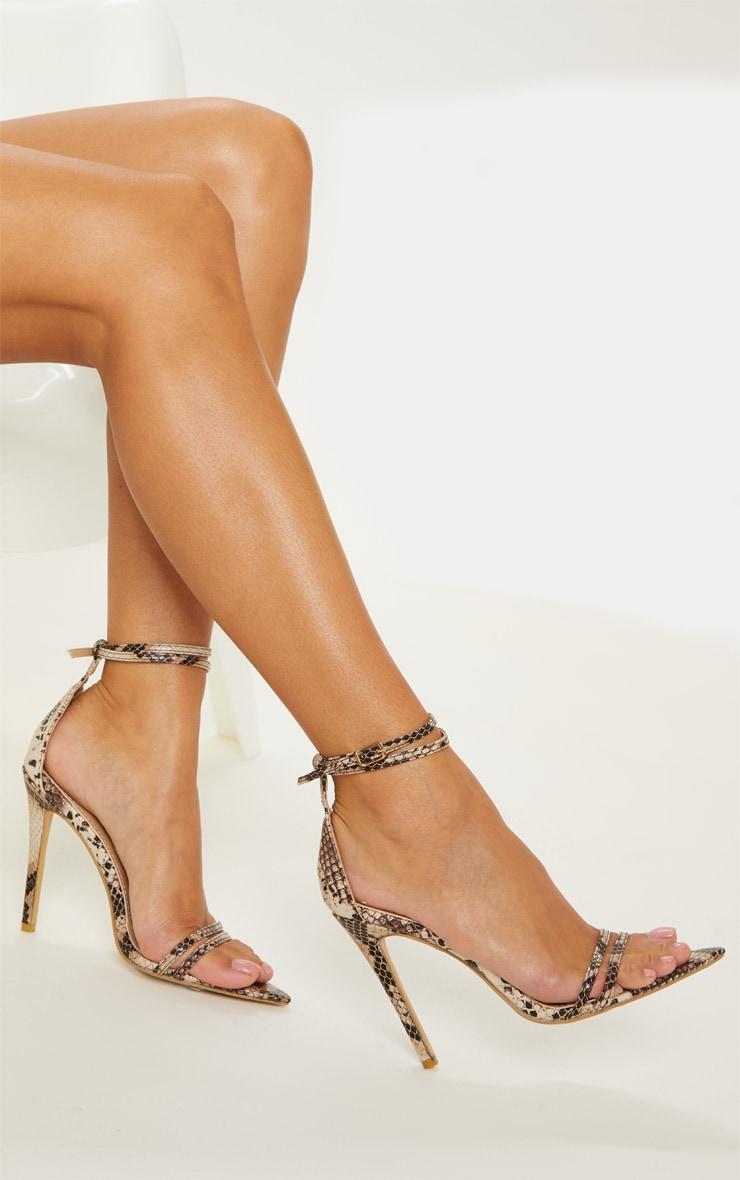 Snake Point Toe Strappy Sandal 2