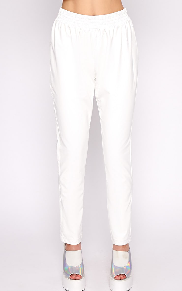 Addison White Leather Jogger 5
