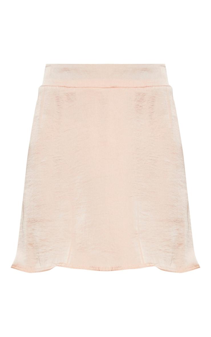 Champagne Woven Tie Waist Skater Skirt 3