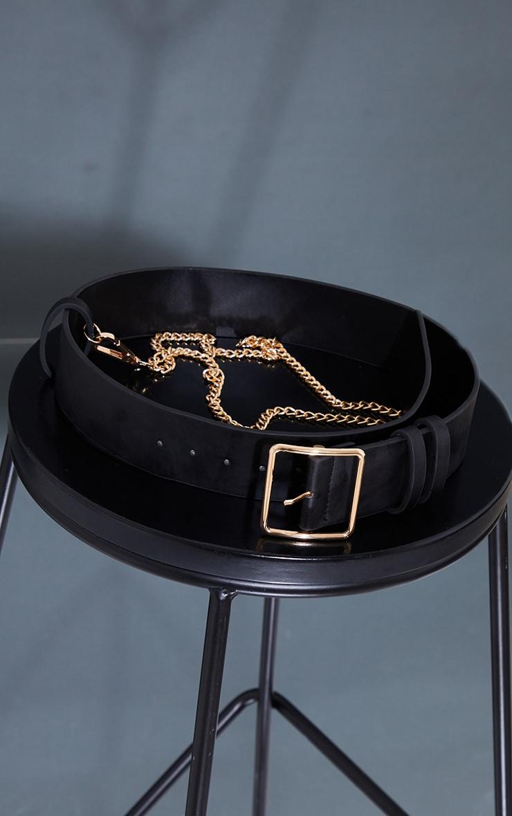 Black Gold Chain Waist Belt 2