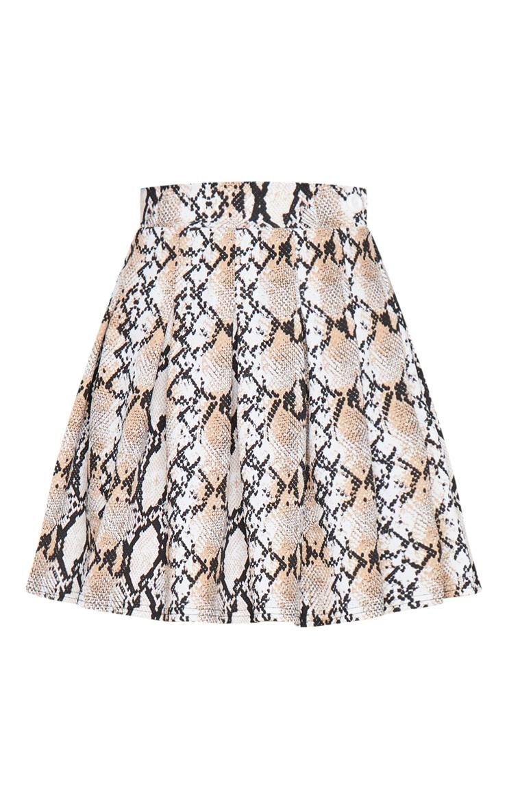 Grey Snake Print Tennis Side Split Skirt 6
