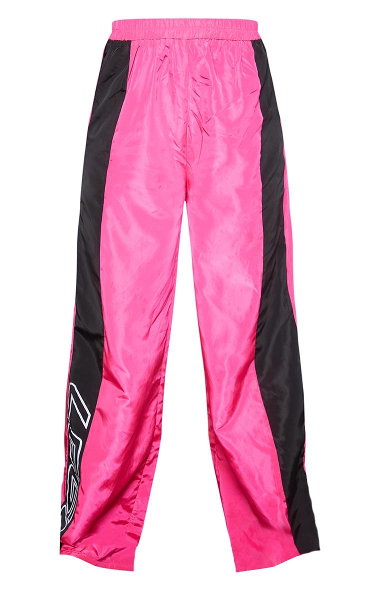 Pink Nylon 1997 Straight Leg Sports Joggers 5