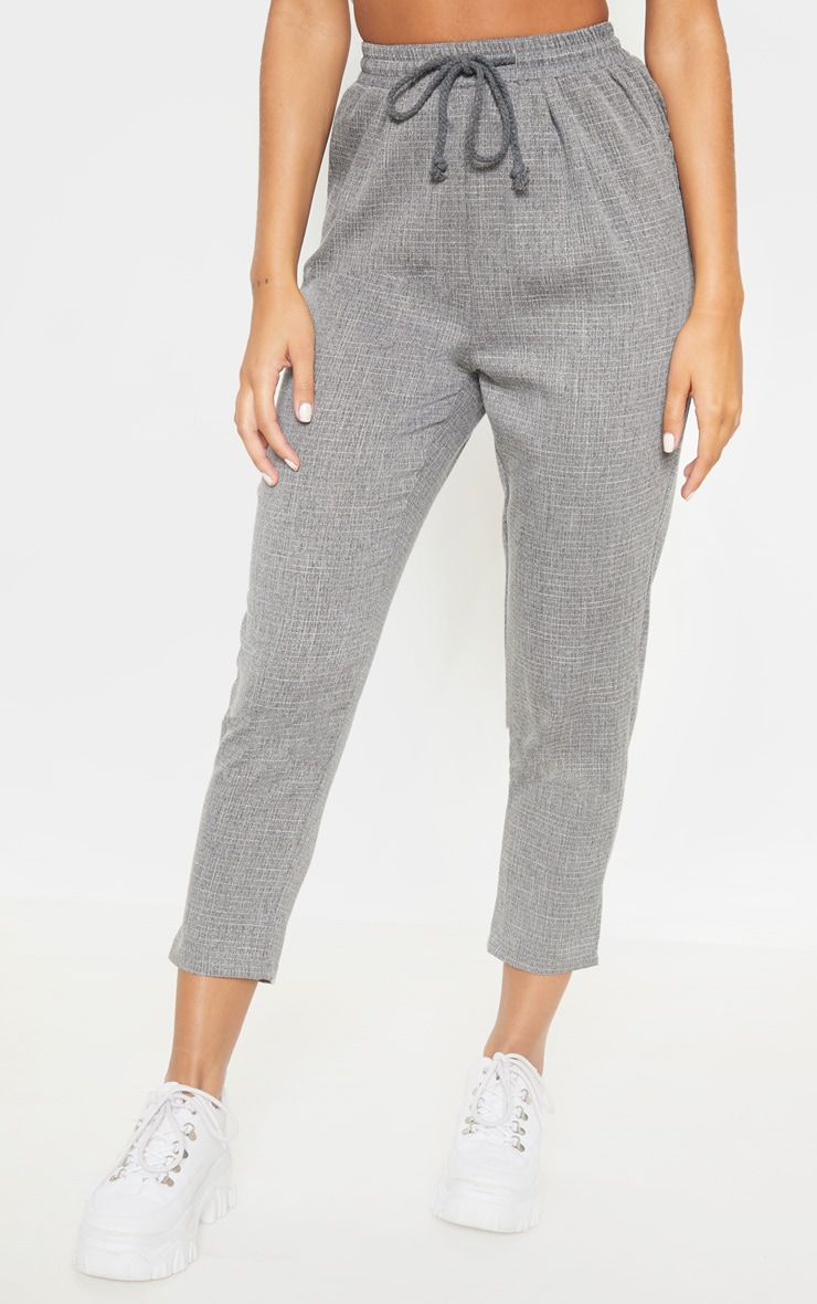 Diya Grey Casual Trousers 2