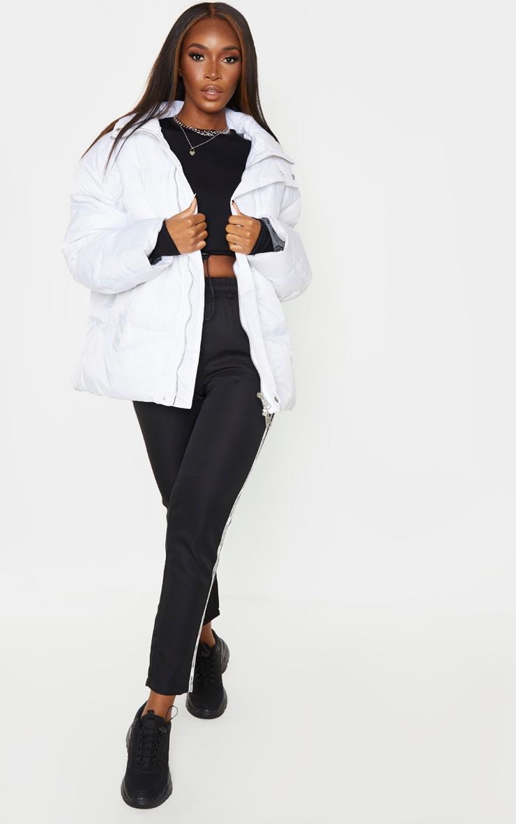 White Extreme Oversized Puffer Jacket 4