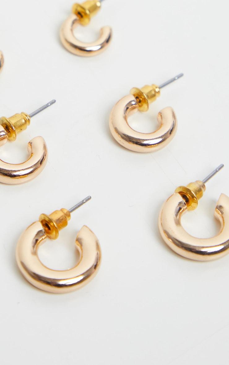 Gold Super Mini Hoop Pack 3
