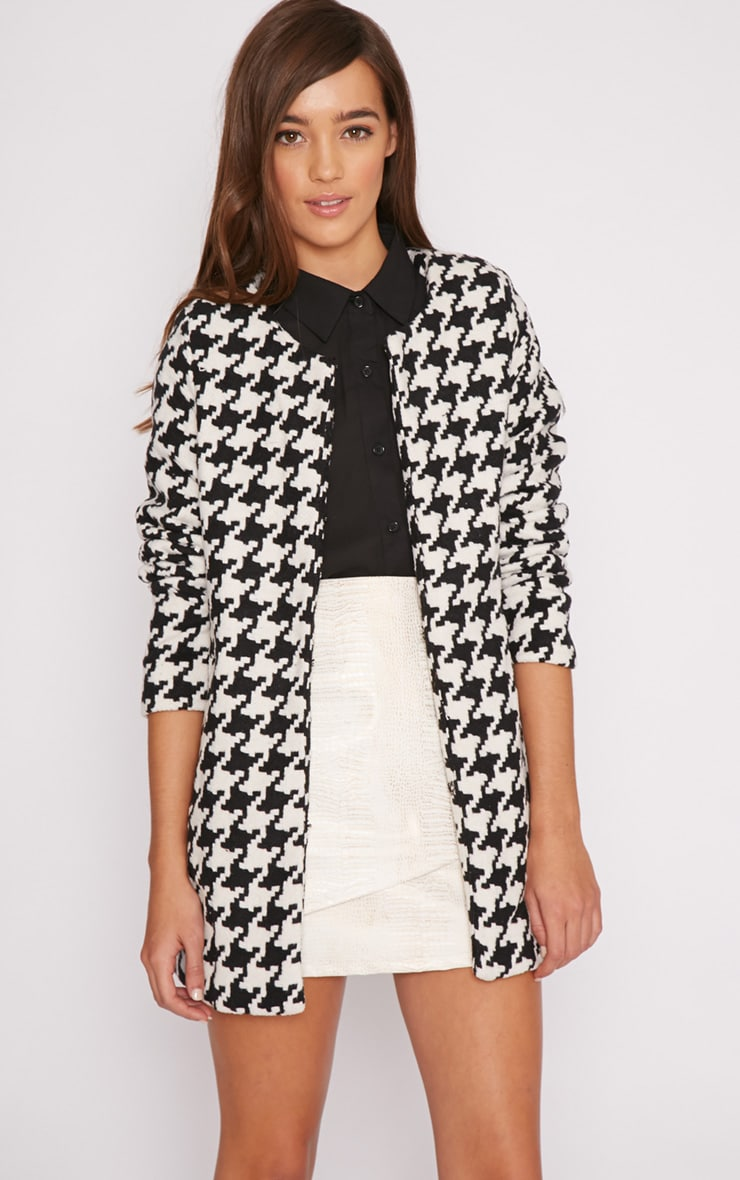 Megane Monochrome Dogtooth Coat 4