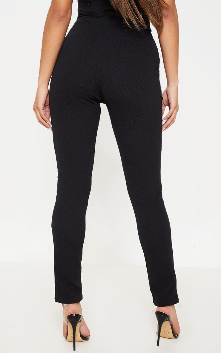 Sage Black Crepe Skinny Pants 4