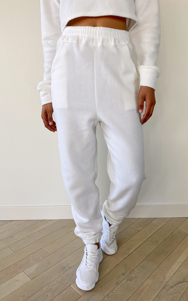 Tall White Brushed Sweat Oversized Sweatpants 1