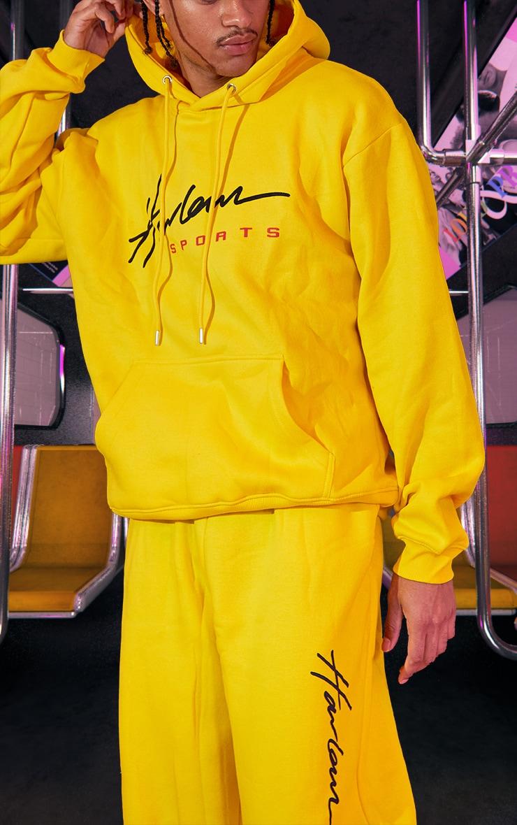 Yellow Unisex Printed Oversized Hoodie 5