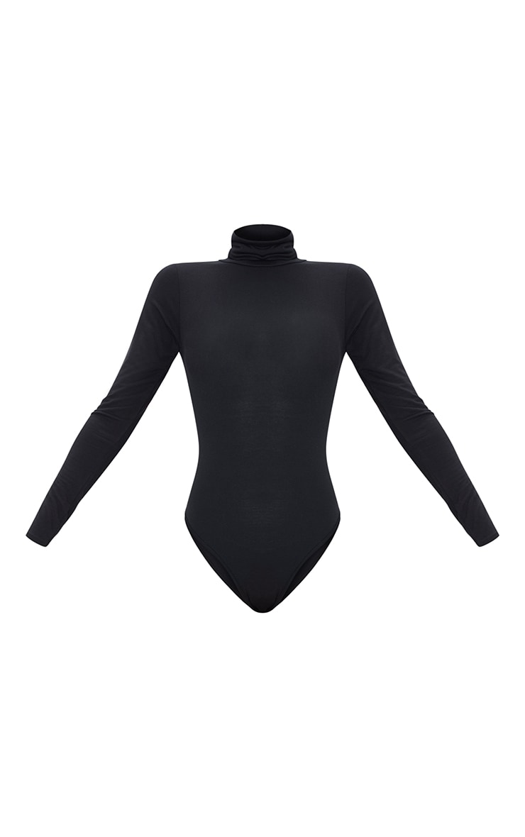 Basic Black & White 2 Pack Roll Neck Long Sleeved Bodysuit 5