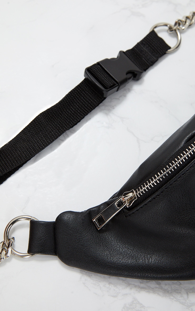 Black Chunky Chain Bum Bag 4