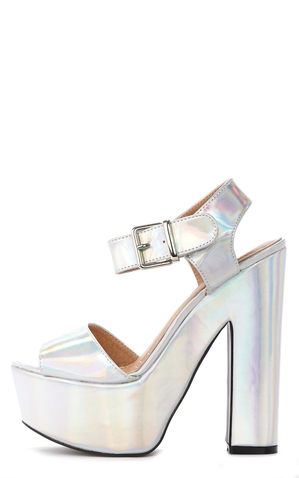 Madison Holographic Platform Sandal 1