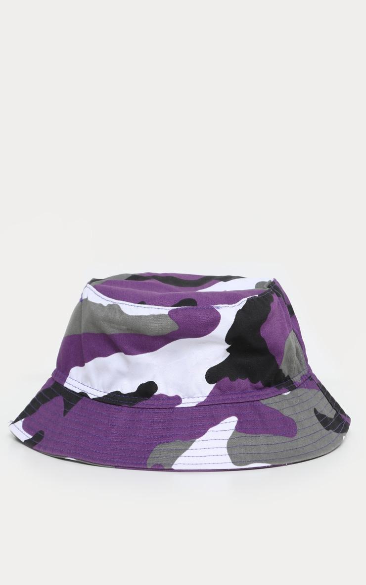 Purple Camo Bucket Hat 2