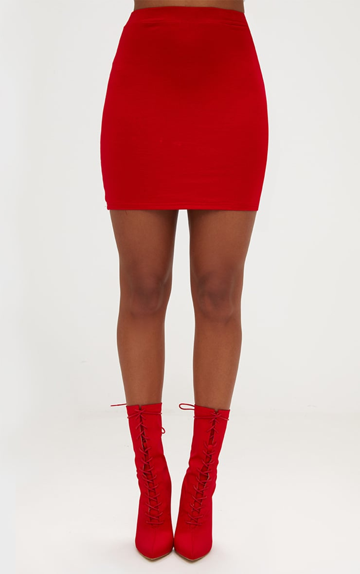 Red Ultimate Jersey Mini Skirt 2